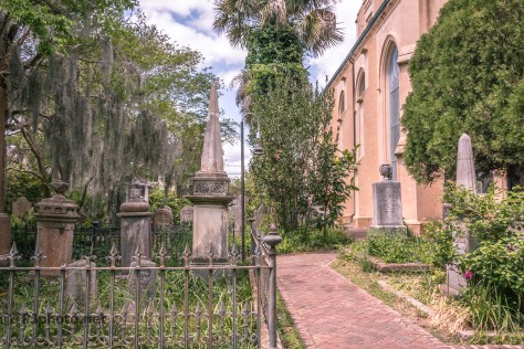 Unitarian Church Graveyard In Charleston - Click To Enlarge