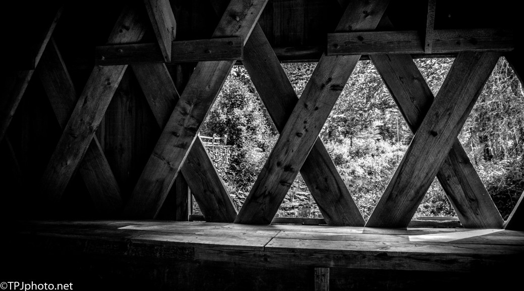 Covered Bridge, Black And White - Click To Enlarge