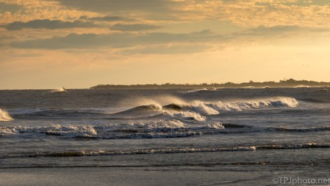 Wind And Waves At Sunset - click to enlarge