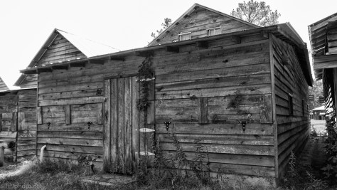 Cabins, Black And White Textures - click to enlarge
