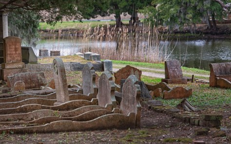 Grave Sites On A Marsh