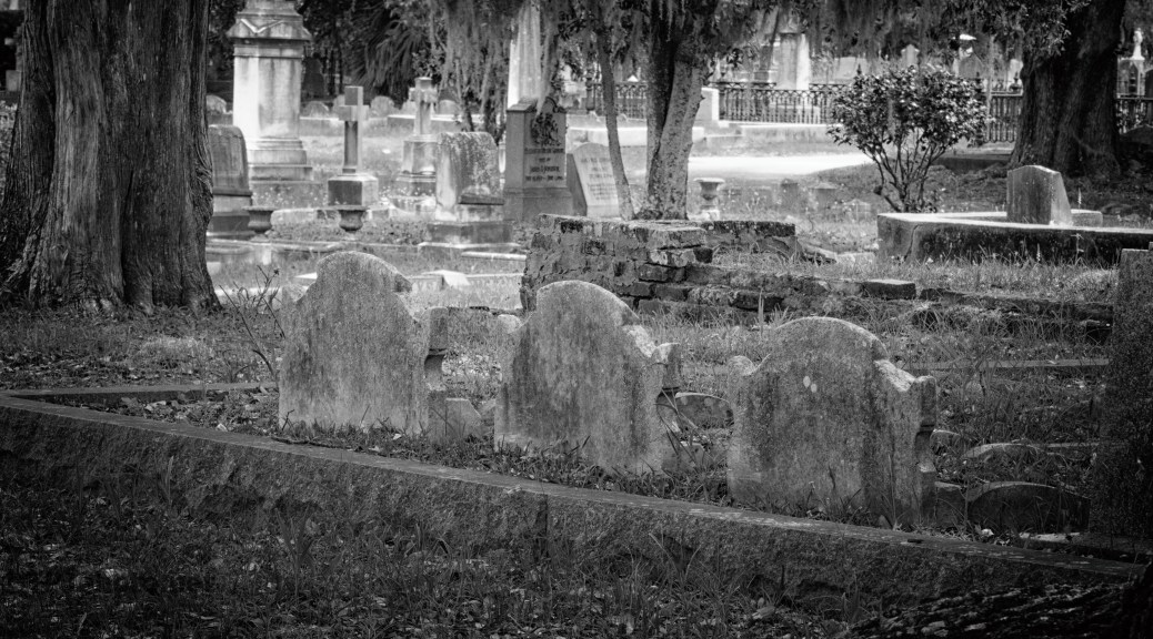 Cemetery, Black And White Film Filter