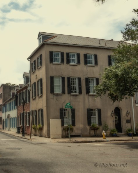 Church And Tradd, Old Charleston, South Carolina