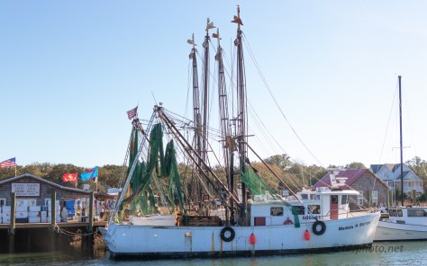 Shrimper Tied Up At The Wholesale Pier