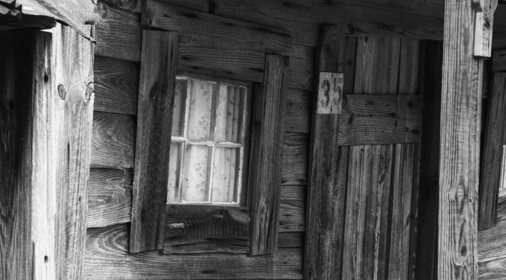 Cabins - Windows, Black And White