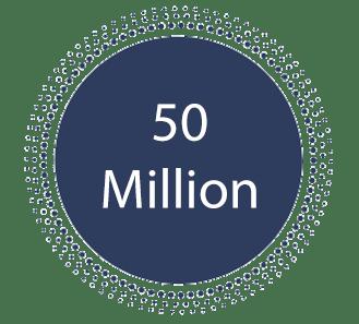 """Text reading """"50 million"""""""