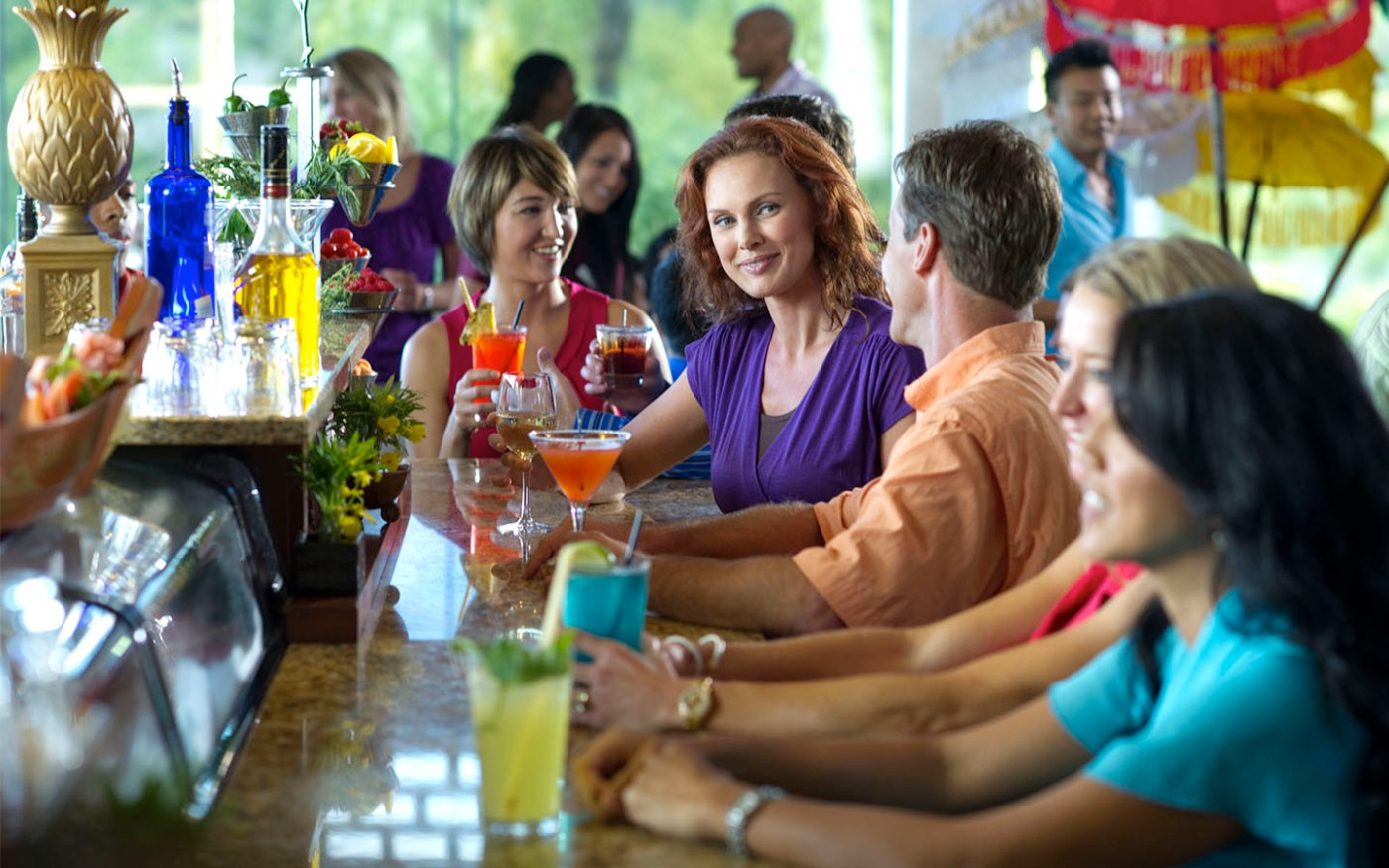 Unwind after a day at the parks with a happy hour at Loews Royal Pacific Resort.