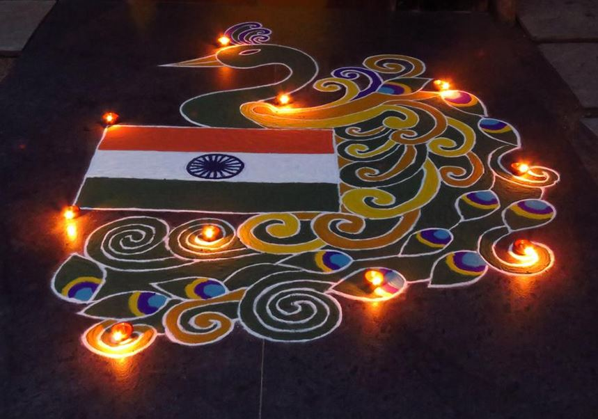 20 Amazing Free Hand Rangoli Designs For CompetitionSchool Or Home