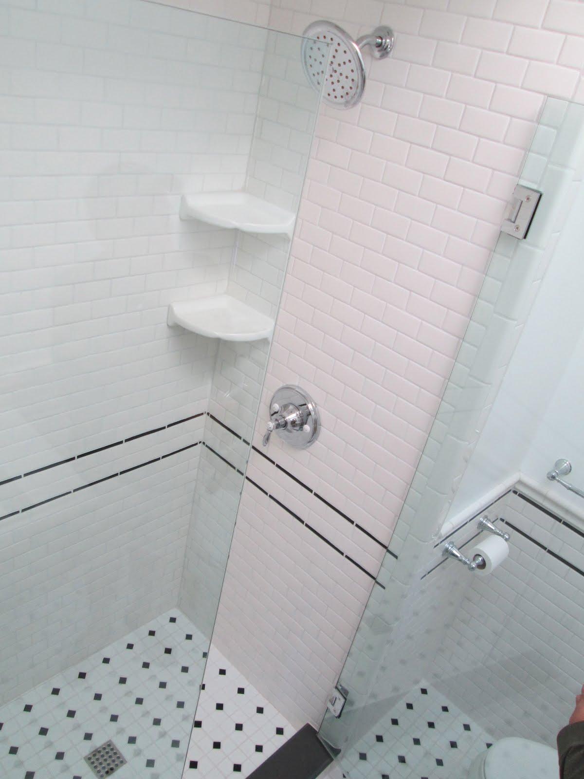 vintage subway tile bathroom remodel in