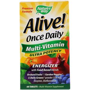 Nature's Way, アライブ!1日1錠、マルチビタミン、60錠