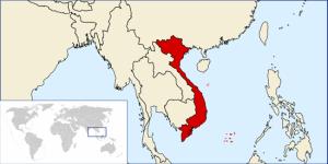 Vietnam konumu