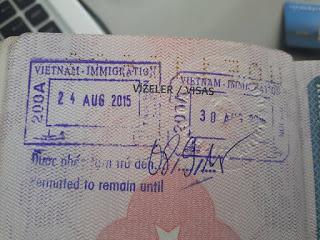 vietnam vize stamp