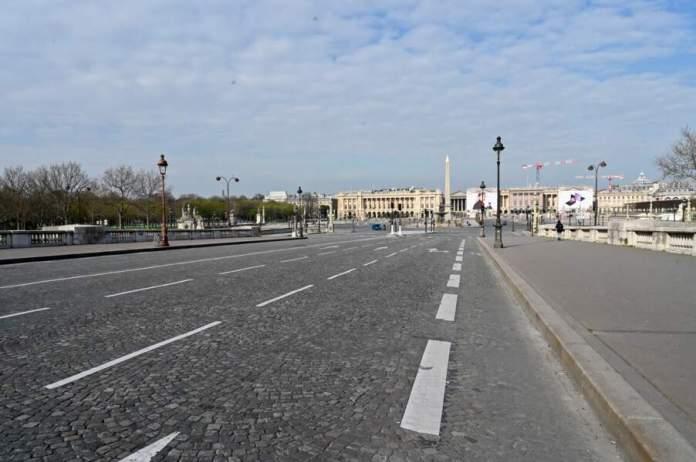 Les rues de Paris, le 17 mars 2020, premier jour du confinement