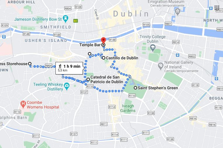 Dublin tour map