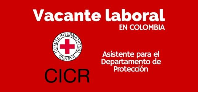 Vacante laboral con el Comité Internacional de la Cruz Roja CICR en Colombia