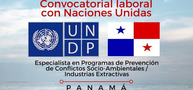 Trabaja con Naciones Unidas en Panamá