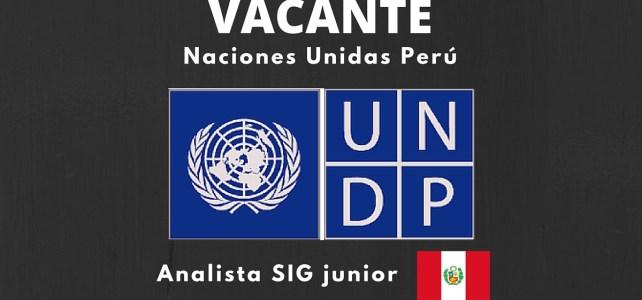 PNUD en Perú busca Analista SIG Junior