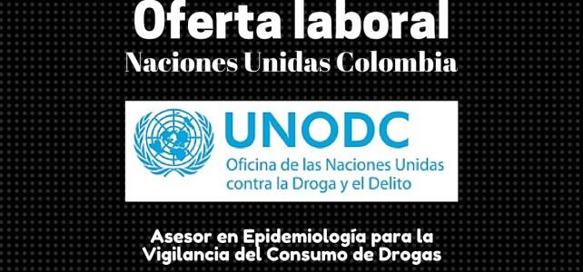 Trabaja con la Oficina de las Naciones Unidas contra la Droga y el Delito (UNODC)