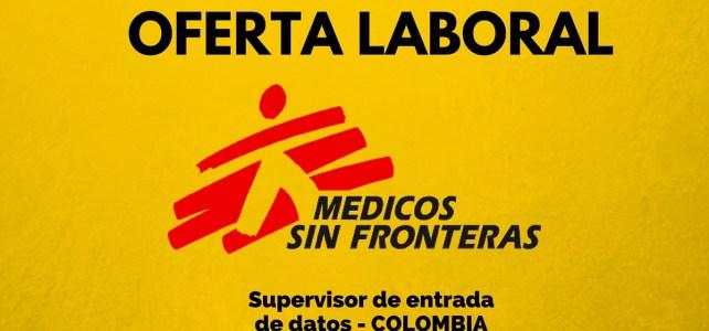 Vacante laboral en Médicos sin Fronteras en Colombia