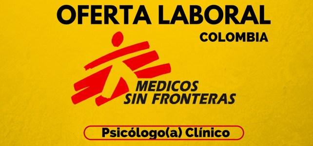 Oportunidad laboral en Médicos sin Fronteras en Colombia  – ideal para psicólogos o psicólogas