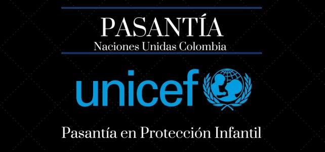 Haz tú pasantía en la UNICEF Colombia en temas de protección infantil