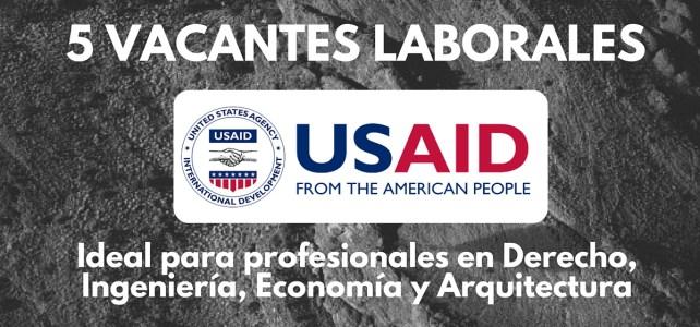 El Programa de Tierras y Desarrollo Rural de USAID abre convocatoria laboral