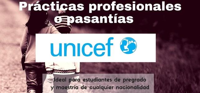 Prácticas profesionales con UNICEF