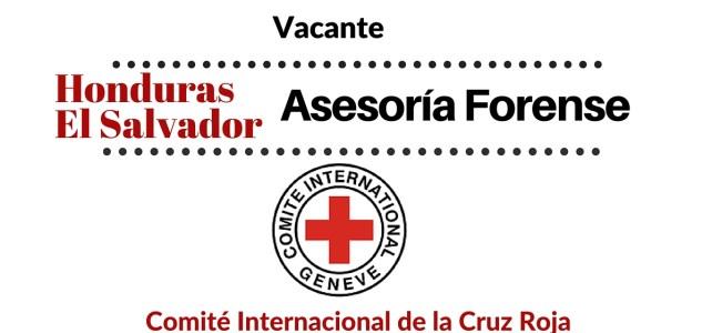 Vacante Asesoría Forense para Honduras y el Salvador