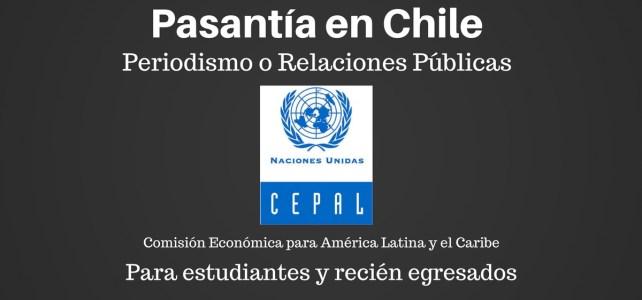 Pasantía en Relaciones Públicas en ONU Chile  – ideal para comunicadores