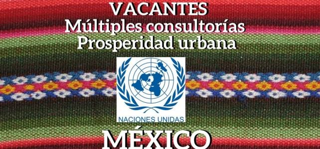 Vacantes en la ONU para Múltiples consultorías de Prosperidad urbana