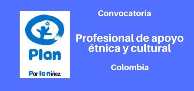 Vacante Profesional de apoyo étnica y cultural con la FUNDACIÓN PLAN