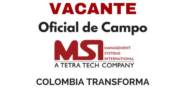 Vacante como Oficial de Campo, Colombia Transforma