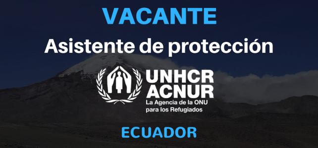 Convocatoria – Asistente de protección ACNUR Ecuador