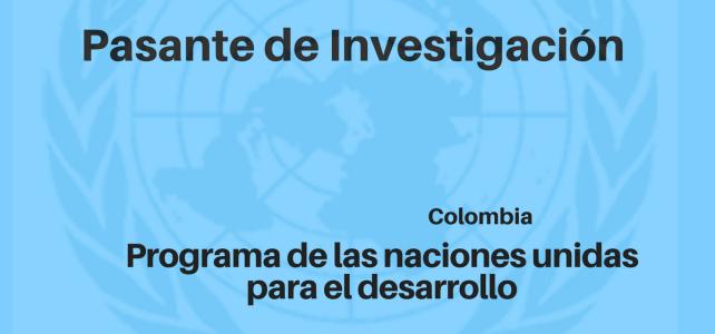 Pasante de Investigación con Naciones Unidas Colombia