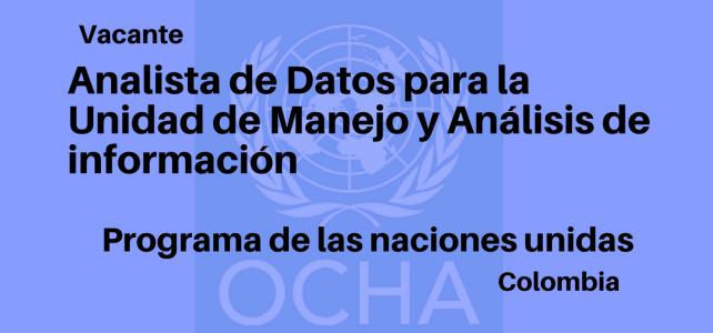 Vacante Analista de Datos con OCHA