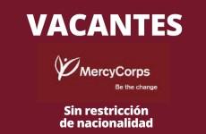 Convocatoria abierta con Mercy Corps