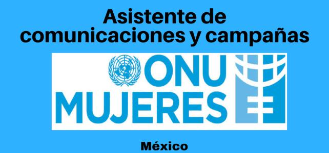 Vacantes en ONU MUJERES  – Asistente de Comunicaciones