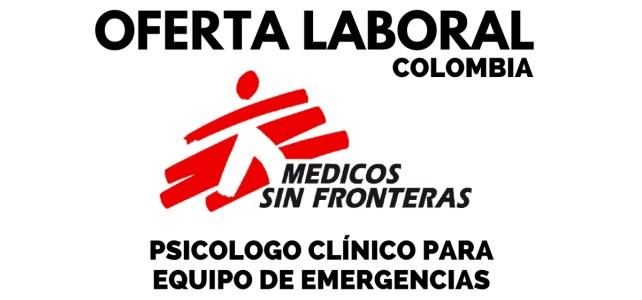 Convocatoria laboral con Médicos sin Fronteras – profesional en Psicología