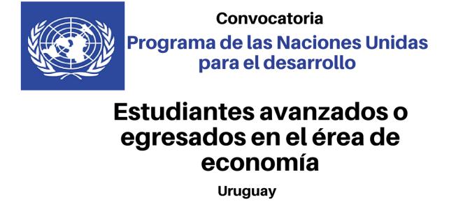Estudiantes avanzados o  egresados en el área de economía (PNUD)