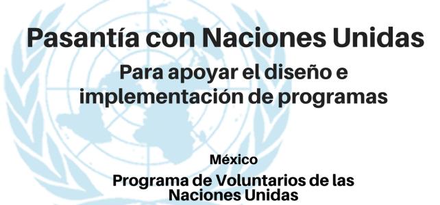 Convocatoria Pasante con Naciones Unidas programas, proyectos y redes de voluntariado UNV