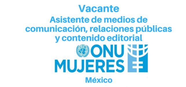 Vacante Asistente de medios de comunicación, Relaciones Públicas con ONU Mujeres