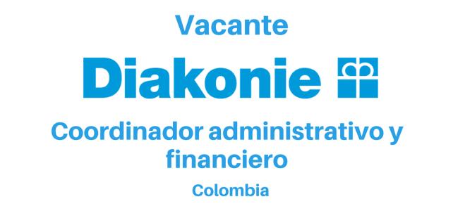 Vacante coordinador administrativo y financiero