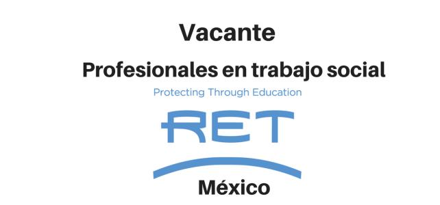 Vacante Profesionales en trabajo social con  RET