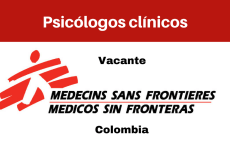 Vacante Psicólogos con MSF