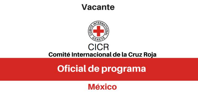 Vacante Oficial de programa con el CICR