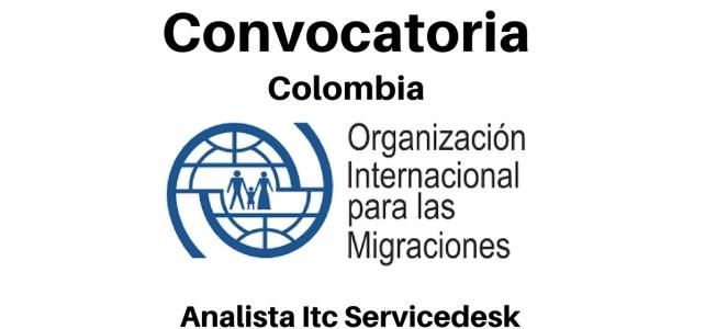 Vacante laboral con la Organización Internacional para las Migraciones en Colombia
