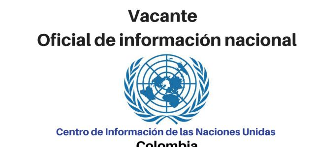 Vacante oficial de información nacional CINU