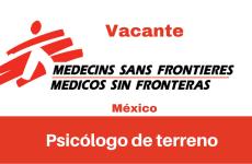 Vacante Psicólogo de terreno MSF