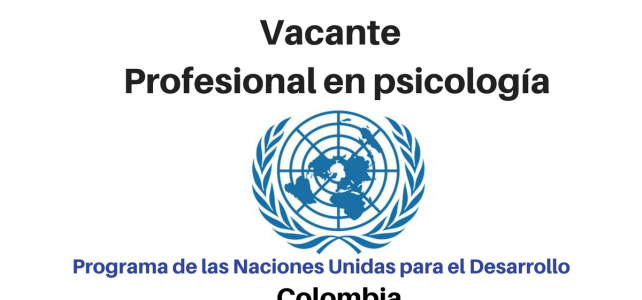 Vacante Profesional en Psicología PNUD