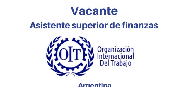 Vacante Asistente Superior de Finanzas OIT